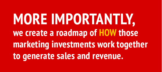 More-importantly, we create a roadmap of HOW those marketing investments work together to generate sales and revenue.